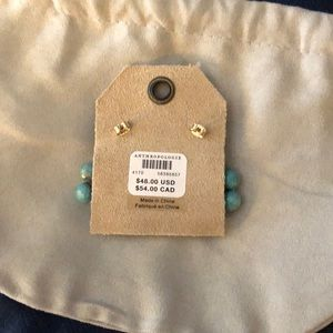 Anthropologie Jewelry - NWT Anthropologie beaded drop turquoise earrings